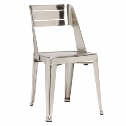 An Image of Lamech Dining Chair Nickel