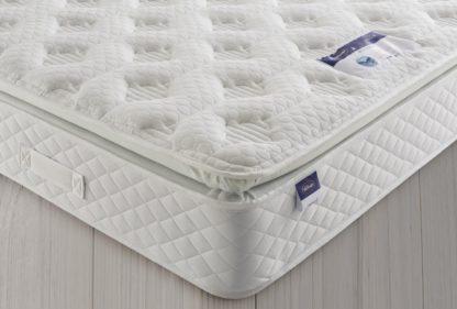 An Image of Silentnight Geltex Comfort Sprung Pillowtop Double Mattress
