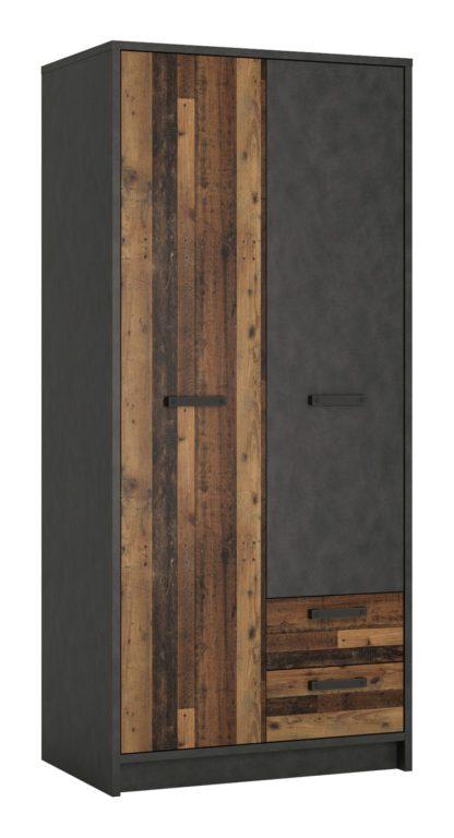 An Image of Nubi 2 Door 2 Drawer Wardrobe