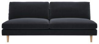 An Image of Habitat Teo 3 Seater Fabric Sofa - Teal