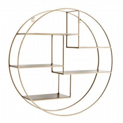 An Image of Metal Circular Shelf Brass