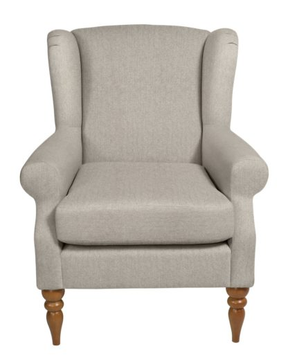 An Image of Habitat Bude Fabric Wingback Chair - Cream