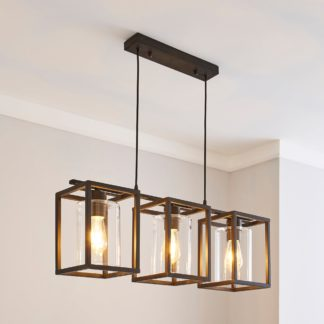 An Image of London Industrial 3 Light Bronze Diner Ceiling Fitting Bronze