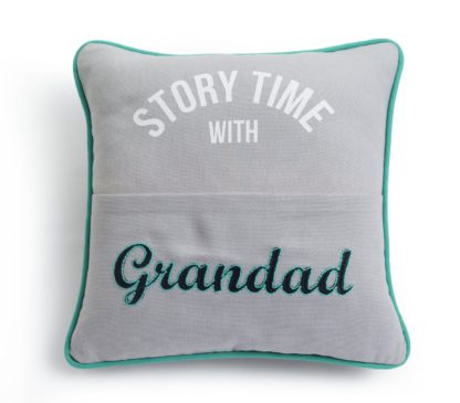An Image of Argos Home Grandad Story Time Cushion