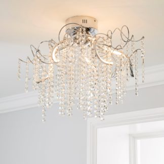 An Image of Timah 4 Light LED Jewel Ceiling Fitting Chrome