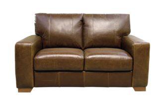 An Image of Habitat Eton 2 Seater Leather Sofa - Tan