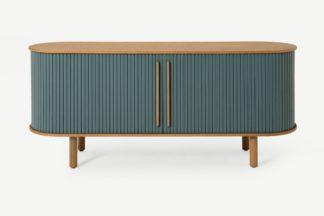 An Image of Tambo Sideboard, Oak & Ocean Blue