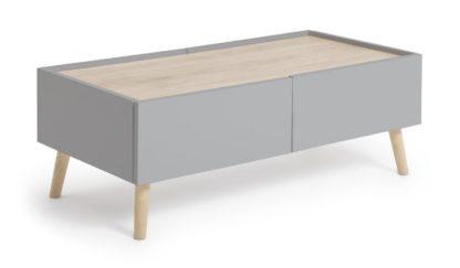 An Image of Habitat Skandi 2 Drawer Coffee Table - Grey Two Tone