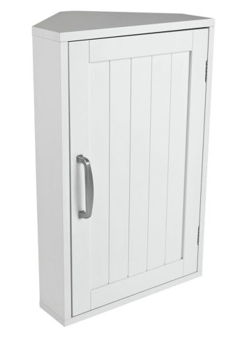 An Image of Argos Home Tongue & Groove Corner Cabinet - White