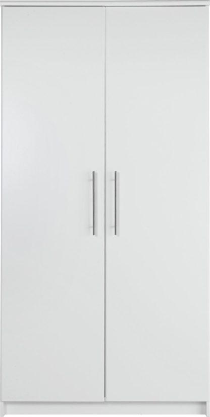 An Image of Argos Home Normandy 2 Door Wardrobe - White