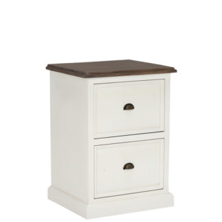 An Image of Berkshire Reclaimed Wood 2 Drawer Filing Cabinet
