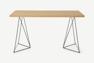 An Image of Solly Desk, Oak & Black Steel
