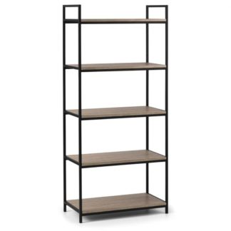 An Image of Tribeca Tall Bookcase Black/Natural