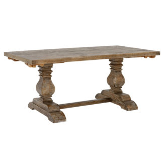 An Image of Woolton 220cm Extending Dining Table Mid Burnt Oak