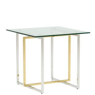 An Image of Escher Glass Lamp Table