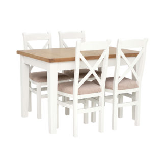 An Image of Althorp Extending Dining Table and 4 Cross Back Dining Chairs
