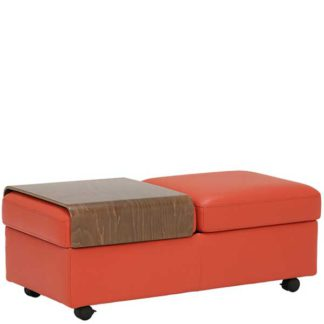 An Image of Ekornes Double Ottoman Choice of Leather
