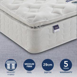 An Image of Silentnight Medium Firm Miracoil Memory Pillowtop Mattress White