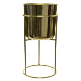 An Image of Gold Plant Stand