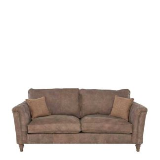 An Image of Darwin Medium Leather Sofa