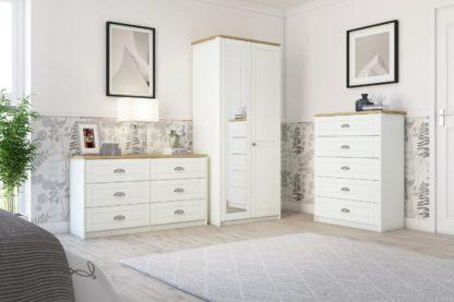 An Image of Kielder 3 Drawer Bedside Table - Grey