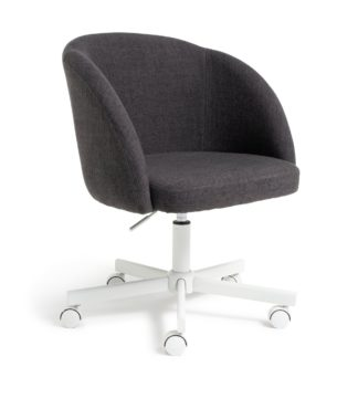 An Image of Habitat Swivel Tub Office Chair - Charcoal