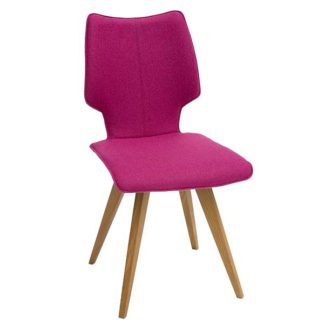 An Image of Tulip Dining Chair Facet Fabric