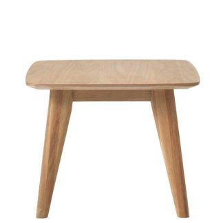 An Image of Lund Side Table Natural Oak
