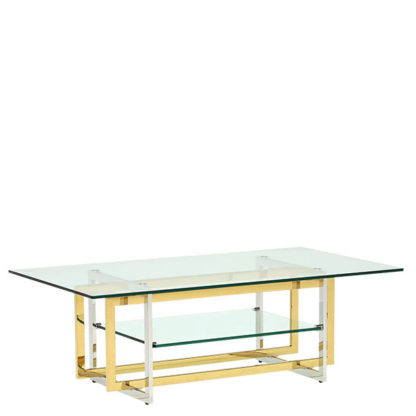 An Image of Escher Glass Coffee Table