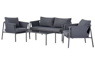 An Image of Argos Home Komoe Steel Sofa Set - Grey