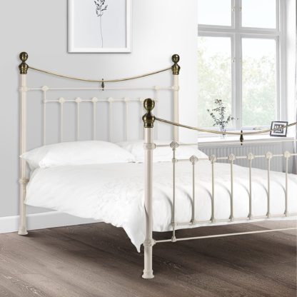 An Image of Evie White Bed Frame White