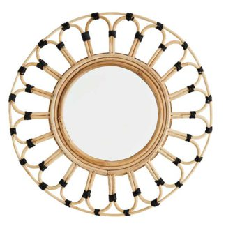 An Image of Bamboo Frame Mirror