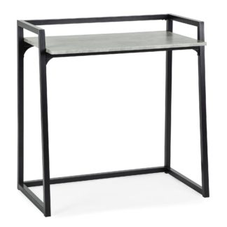 An Image of Alfie Concrete Effect Desk Grey