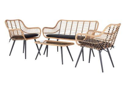An Image of Argos Home 4 Seater Bamboo Sofa Set