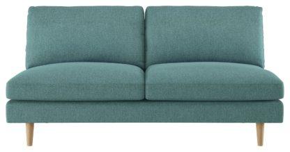 An Image of Habitat Teo 2 Seater Fabric Sofa - Teal