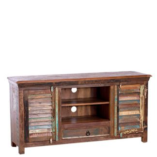 An Image of Little Tree Furniture Mary Rose Reclaimed Wood TV Plasma Unit