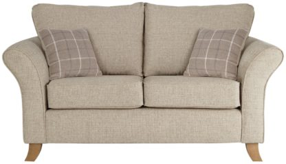 An Image of Argos Home Kayla 2 Seater Fabric Sofa - Beige