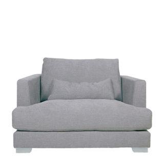 An Image of Flavin Armchair Light Grey