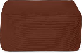 An Image of Loa Square Floor Pouffe Floor Cushion, Russet Cord Velvet
