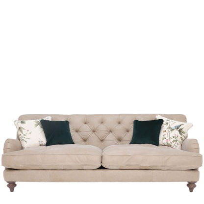 An Image of Windermere Leather Extra Large Sofa - Barker & Stonehouse