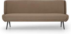 An Image of Moby Click Clack Sofa Bed, Soft Mink Velvet