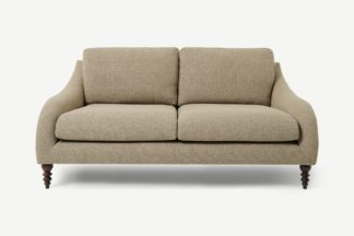 An Image of Andrin 2 Seater Sofa, Mink Eco Weave