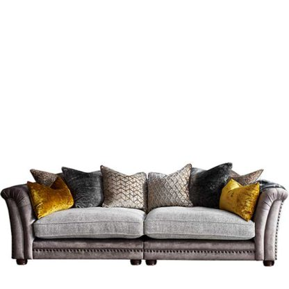 An Image of Whitchurch 4 Seater Split Frame Sofa - Barker & Stonehouse