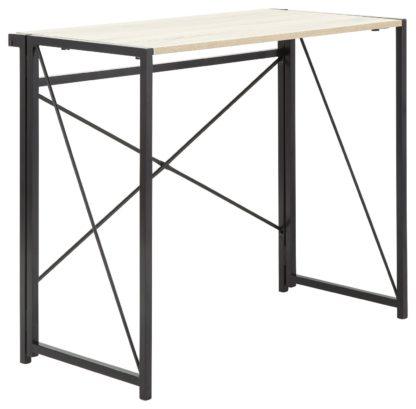 An Image of Bramwell Folding Desk - Grey