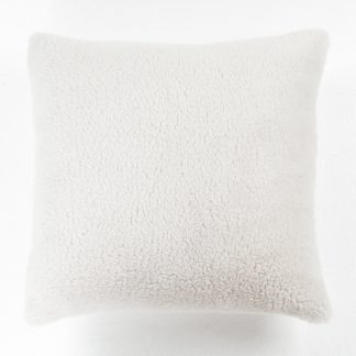 An Image of Argos Home Cosy Cushion - Stone