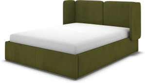 An Image of Ricola Super King Size Ottoman Storage Bed, Nocellara Green Velvet