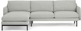 An Image of Miro Left Hand Facing Chaise End Corner Sofa, Venetian Grey