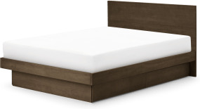 An Image of Meiko Super King Size Bed with Drawer Storage, Walnut Stain Pine