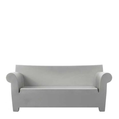An Image of Kartell Bubble Sofa Light Grey - Barker & Stonehouse