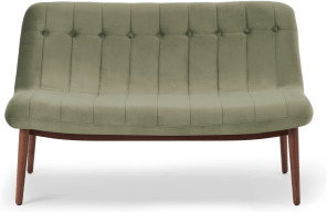 An Image of Halbert 2 Seater Sofa, Sycamore Green Velvet